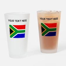 Custom South Africa Flag Drinking Glass