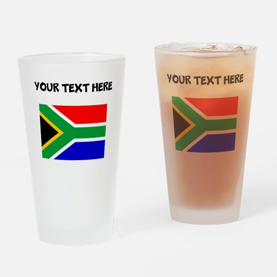 Custom South Africa Flag Drinking Glass