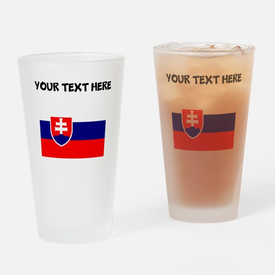 Custom Slovakia Flag Drinking Glass