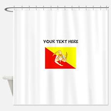 Custom Sicily Flag Shower Curtain