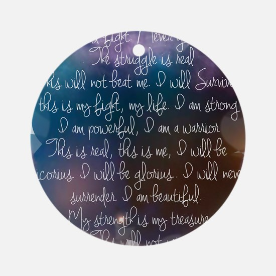 I am beautiful Ornament (Round)