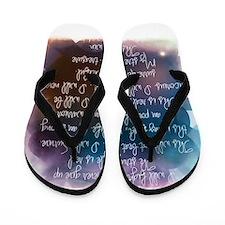I am beautiful Flip Flops