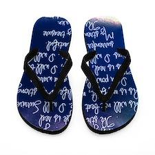 The Struggle, dark blue Flip Flops