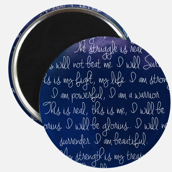 The Struggle, dark blue Magnet