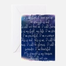 The Struggle, dark blue Greeting Cards (Pk of 10)
