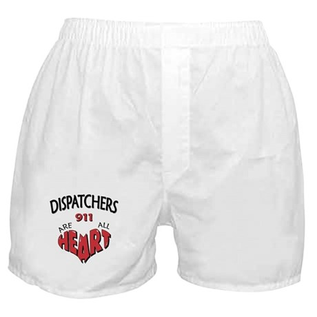 """""""Dispatchers Are All Heart"""" (TM) Boxer Shorts"""
