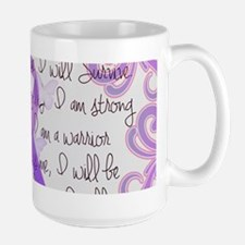 Purple Awareness Ribbon Large Mug