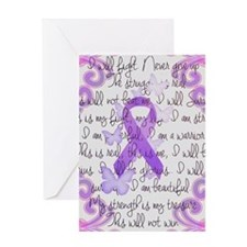 Purple Awareness Ribbon Greeting Card