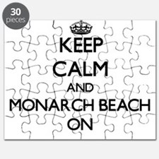 Keep calm and Monarch Beach California ON Puzzle