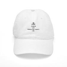 Keep calm and Monastery Beach California ON Baseball Cap