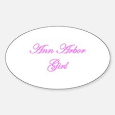Ann Arbor Girl Oval Decal