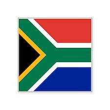 "South Africa Flag Square Sticker 3"" x 3"""