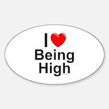 Being High Sticker (Oval)