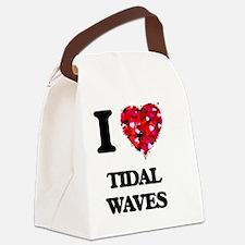 I love Tidal Waves Canvas Lunch Bag
