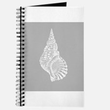 Grey Conch shell Journal
