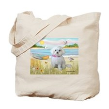 Rowboat / Maltese (R) Tote Bag