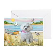Rowboat / Maltese (R) Greeting Card
