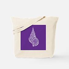 Purple Conch shell Tote Bag