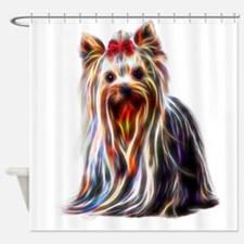 Funny Yorkshire terrier Shower Curtain