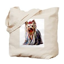 Cute Yorkie birthday Tote Bag