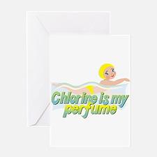 Chlorine is my perfume Greeting Card