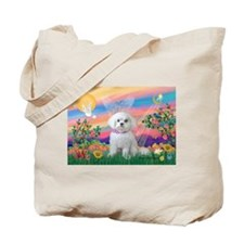 Guardian Angel / Maltese (R) Tote Bag