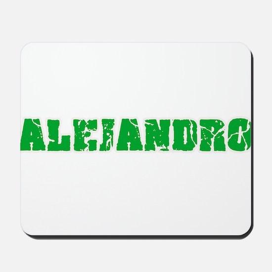 Alejandro Name Weathered Green Design Mousepad