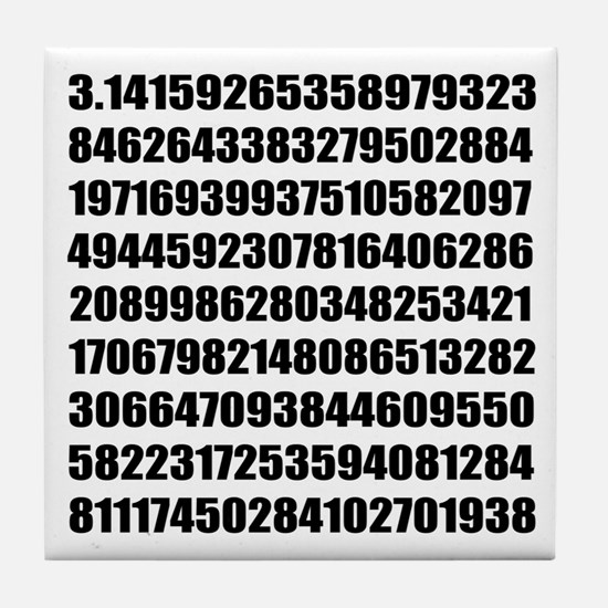 Pi number to many decimal places Tile Coaster