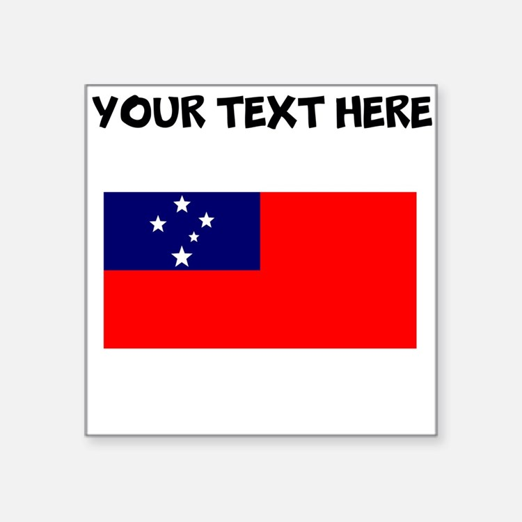 Custom Samoa Flag Sticker