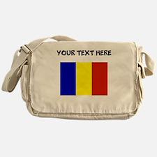 Custom Romania Flag Messenger Bag