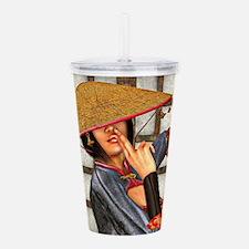 Asian Battle Woman Acrylic Double-wall Tumbler
