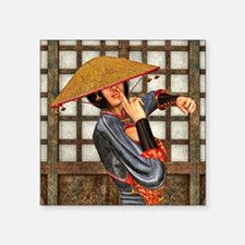 Asian Battle Woman Sticker