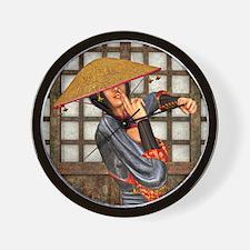 Asian Battle Woman Wall Clock