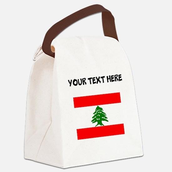 Custom Lebanon Flag Canvas Lunch Bag