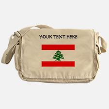 Custom Lebanon Flag Messenger Bag