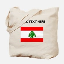Custom Lebanon Flag Tote Bag