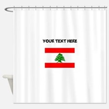 Custom Lebanon Flag Shower Curtain