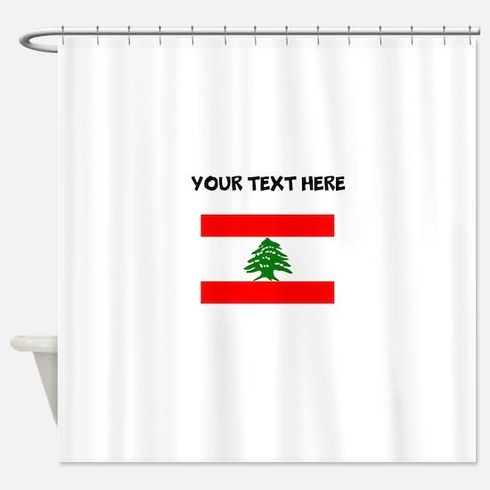 custom lebanon flag shower curtain - Bathroom Accessories Lebanon