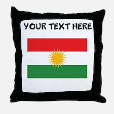 Custom Kurdistan Flag Throw Pillow