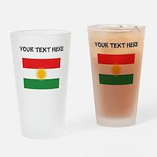 Custom Kurdistan Flag Drinking Glass