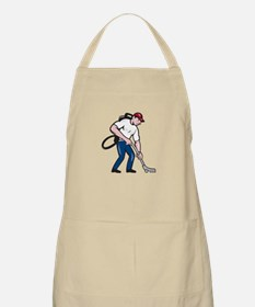 Commercial Cleaner Janitor Vacuum Cartoon Apron