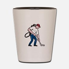 Commercial Cleaner Janitor Vacuum Cartoon Shot Gla