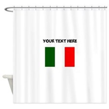 Custom Italy Flag Shower Curtain