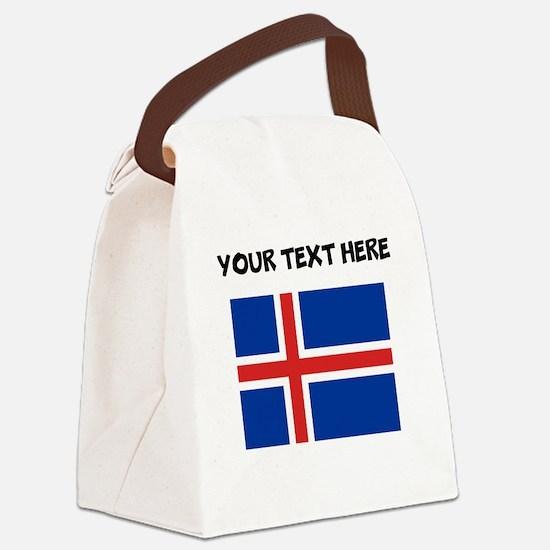 Custom Iceland Flag Canvas Lunch Bag
