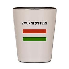 Custom Hungary Flag Shot Glass