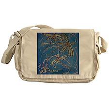 Dragonfly Flit Blues Messenger Bag