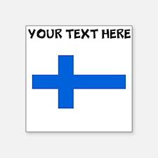 Custom Finland Flag Sticker