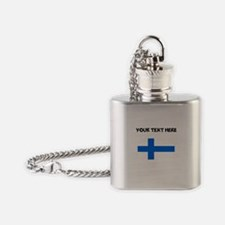 Custom Finland Flag Flask Necklace