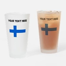 Custom Finland Flag Drinking Glass