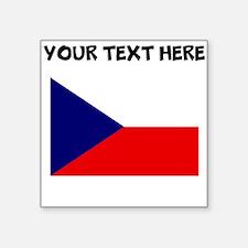 Custom Czech Republic Flag Sticker